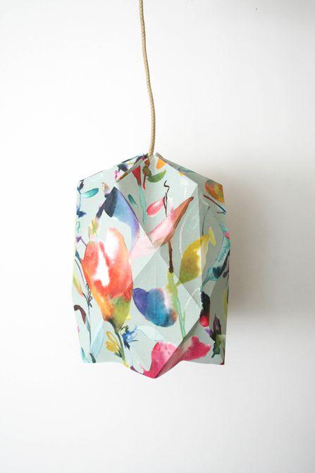 origami wallpaper lampshade