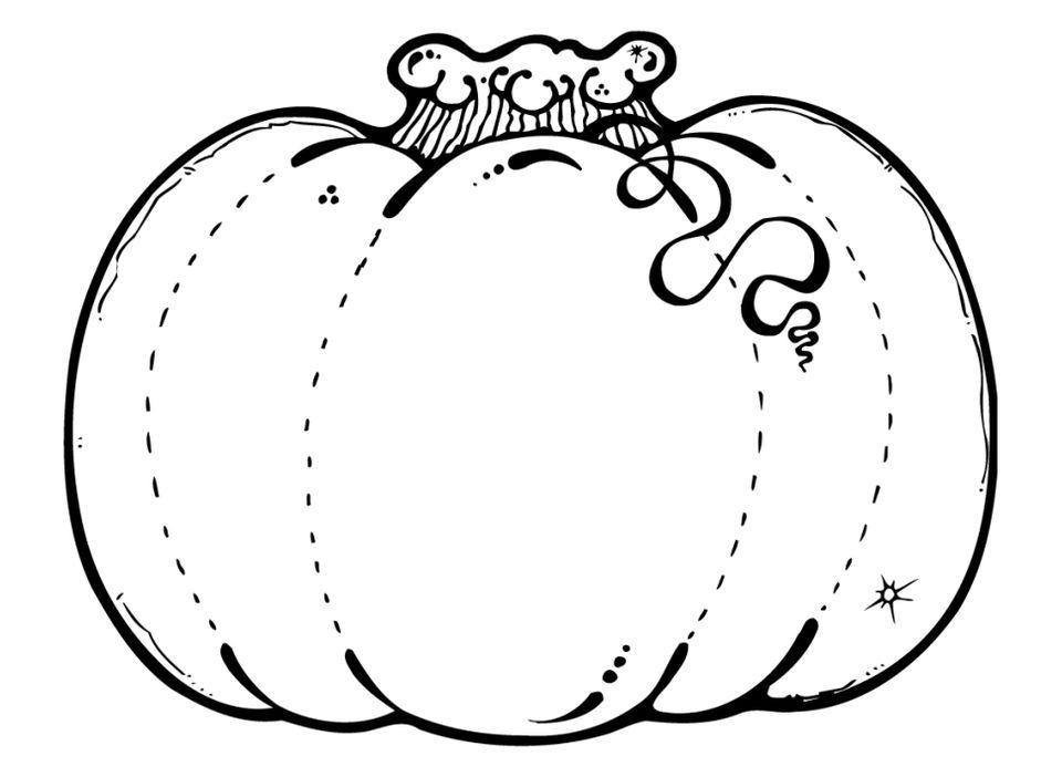 A pumpkin coloring page