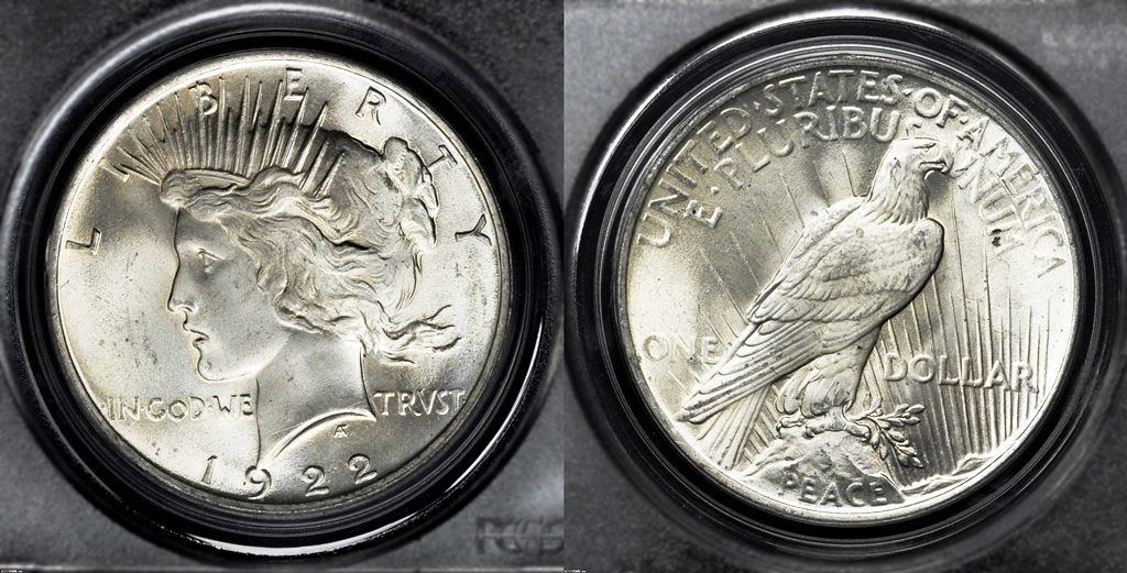 Example of a coin graded Mint State-65 (MS65)