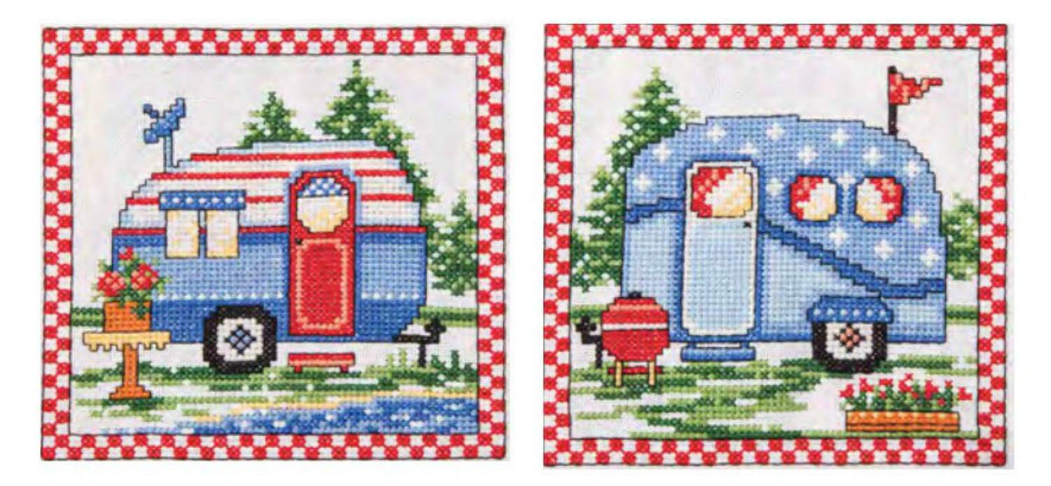 Let's Go Camping! Outdoor Cross Stitch Patterns