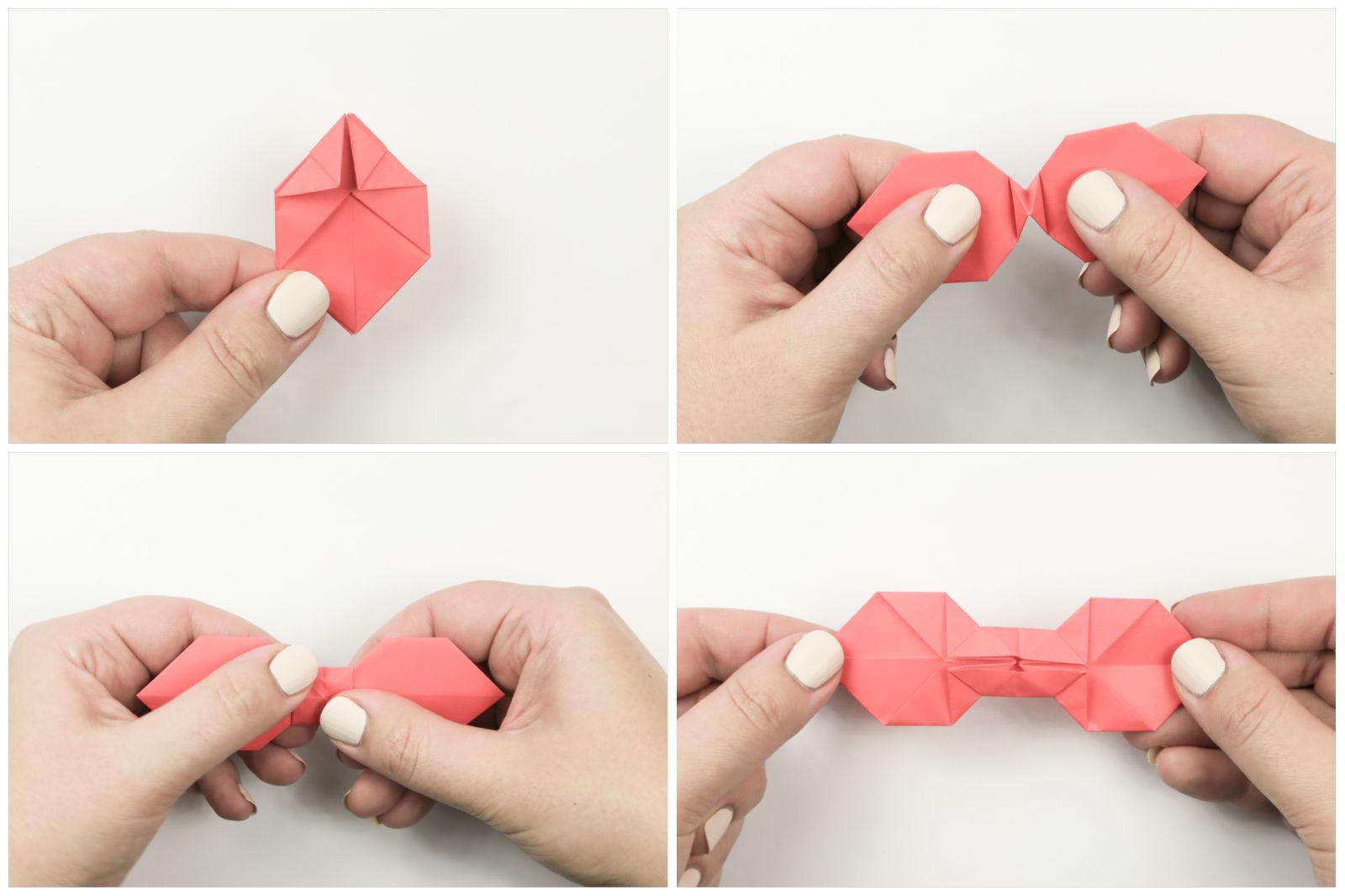 Easy Origami Bow Tie Tutorial Tying Diagram