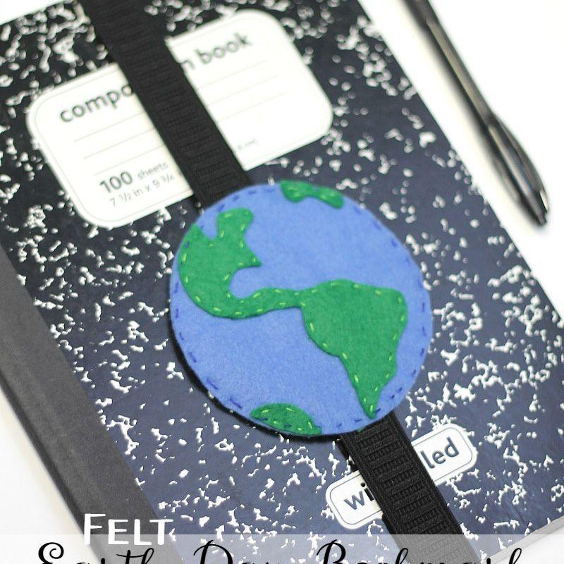 Felt Earth Bookmark