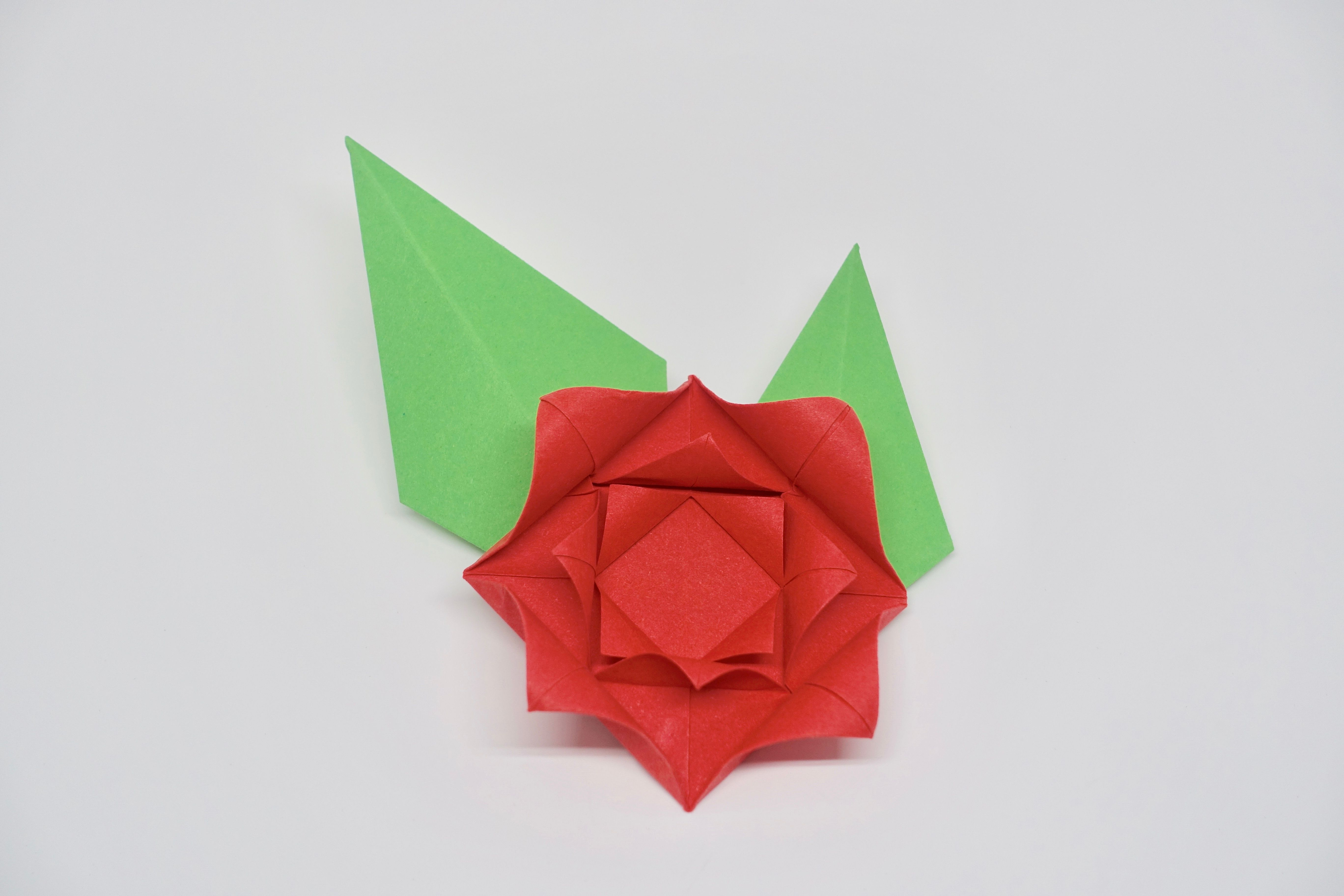 How To Make An Easy Origami Rose Paper Flower - Best Image ... - photo#25