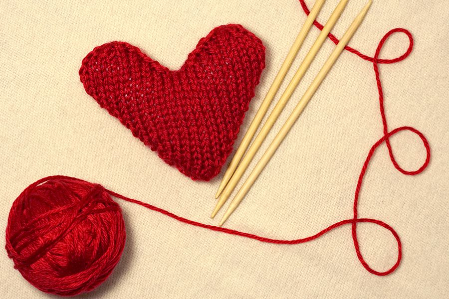 Knit Heart for Valentine\'s Day
