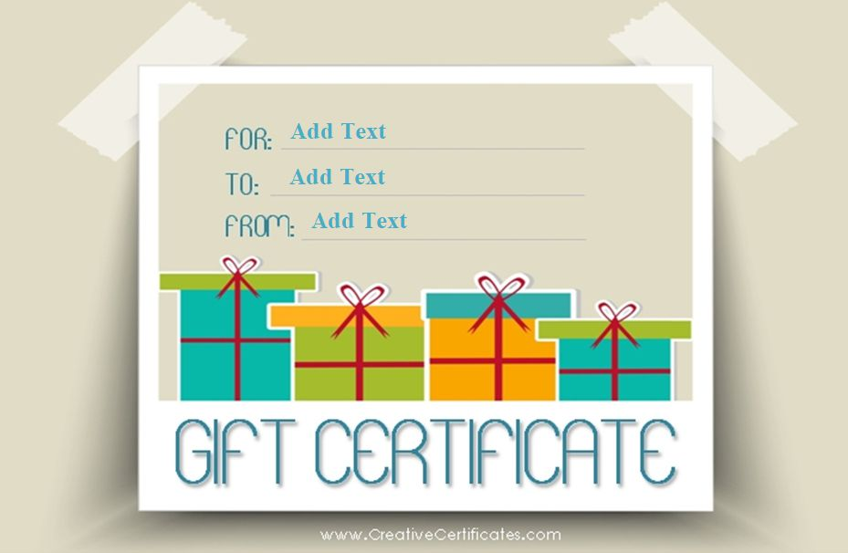 173 free gift certificate templates you can customize a gift certificate template with presents maxwellsz