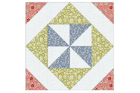 Pinwheel In A Square Quilt Block Pattern
