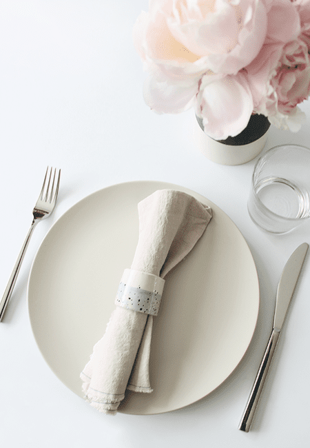 Make your own napkin rings for any occasion diy faux ceramic napkin rings solutioingenieria Choice Image