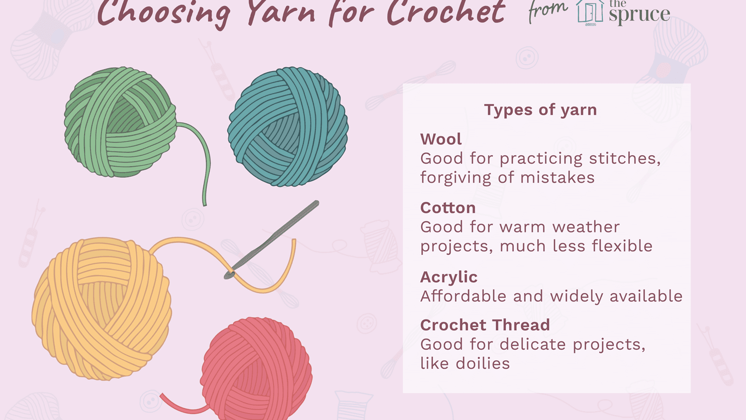 What Are The Different Types Of Crochet Yarn
