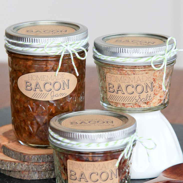 DIY Bacon Jam and Salt Gift Set