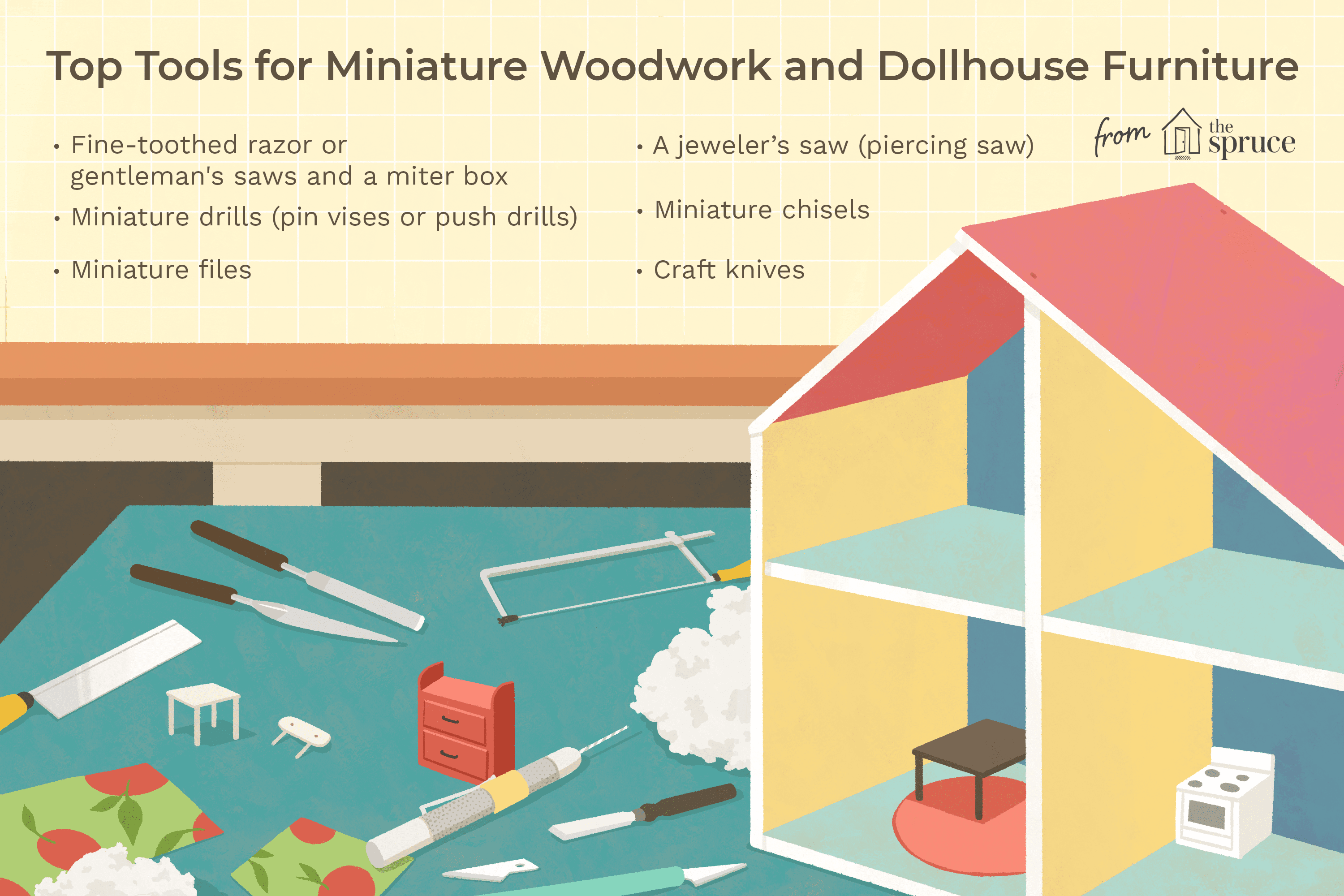 top tools for miniature woodwork and dollhouse furniture
