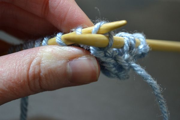 How to purl through the back loop to produce a twisted stitch.