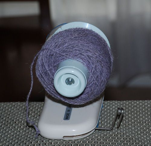 A finished ball on the winder