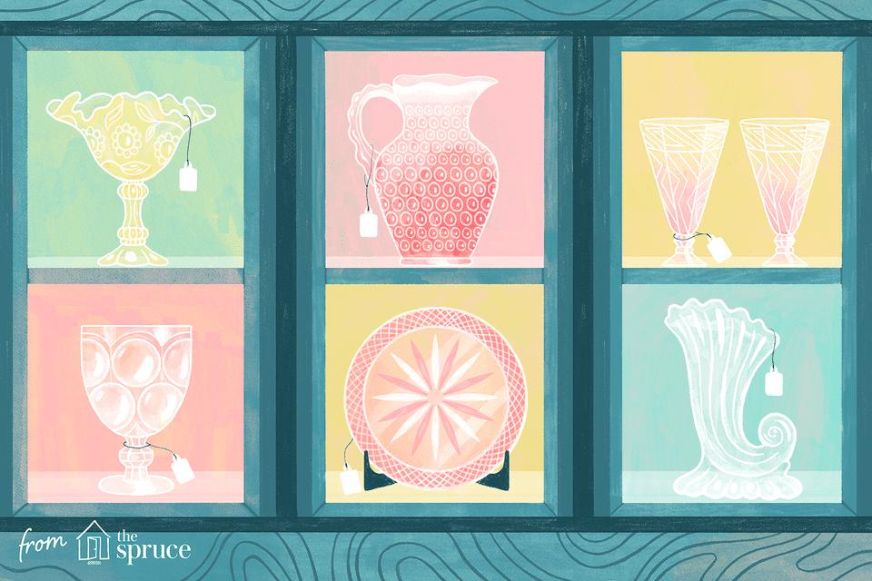 Illustration of carnival glass