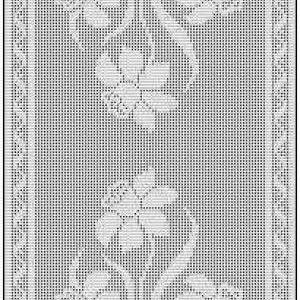 Filet Crochet Table Runner Free Chart Pattern