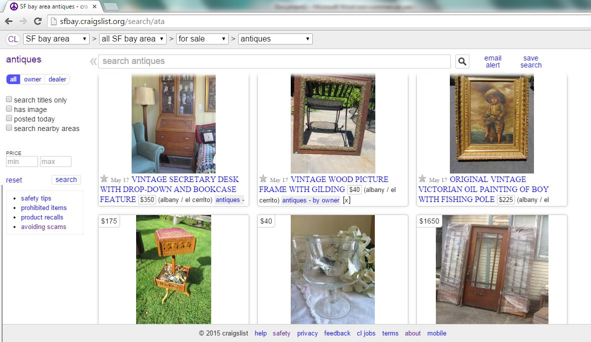 This is one selling choice many people steer clear of after lots of bad  press. But the honest truth is that if you just have one piece of antique  furniture ... - Where To Sell Your Antiques And Collectibles