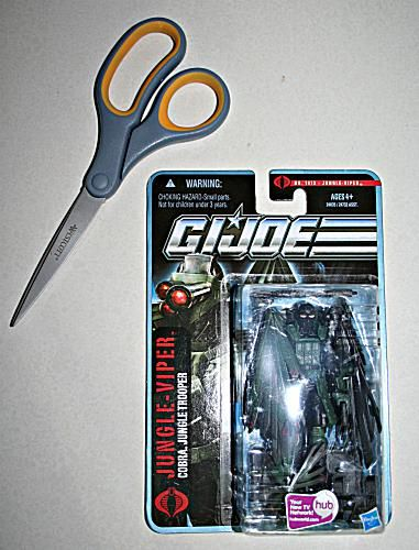 Scissors and an action figure