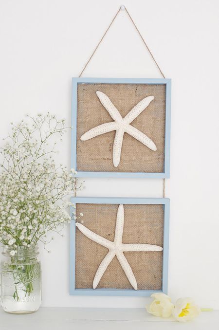 DIY Burlap Nautical Wall Art