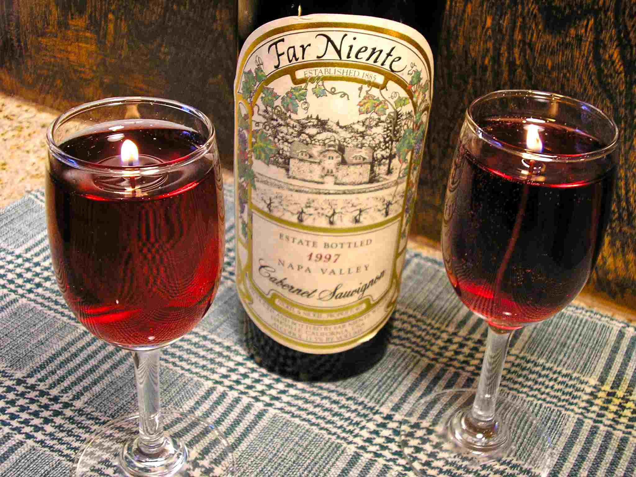 How to Make Wine Glass Gel Candles