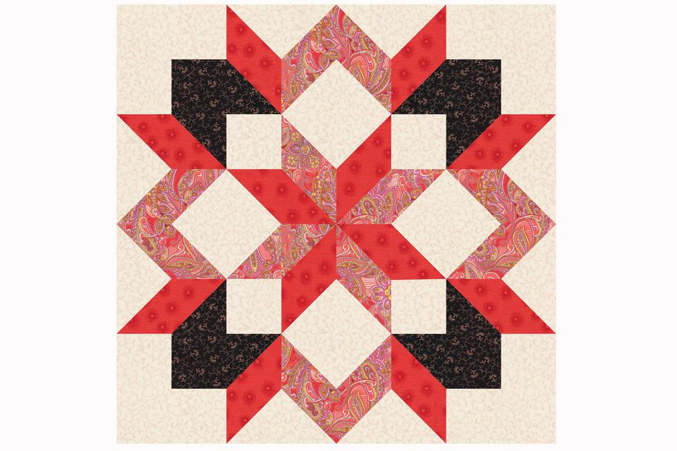 carpenter's star quilt block pattern