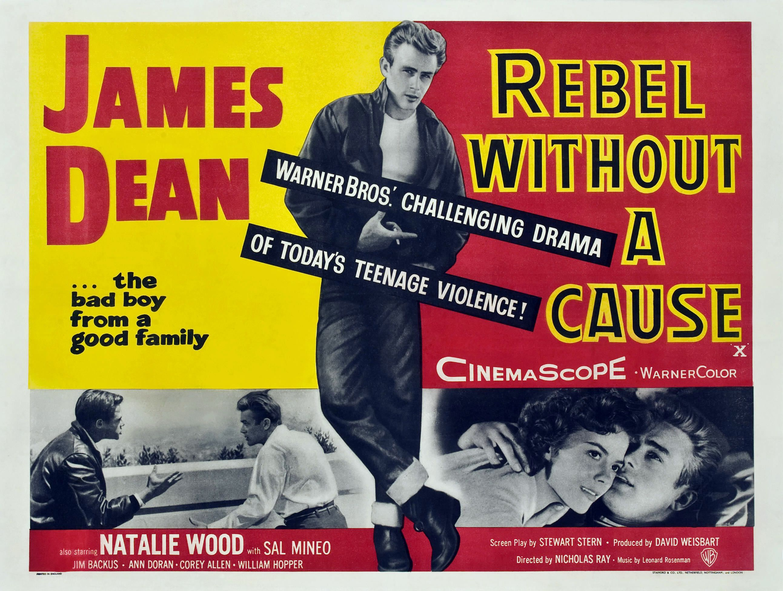 Rebel Without a Cause vintage movie poster