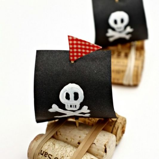 Pirate cork boat craft