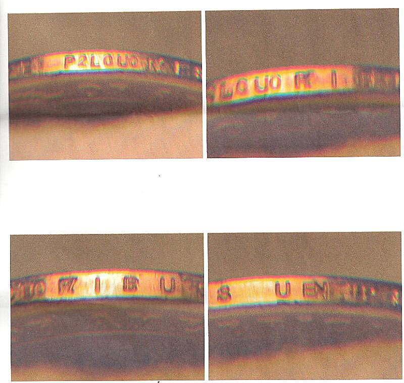 This Coin Took Two Passes Through the Edge Lettering Machine Double edge lettering proves that this coin passed through the edge lettering machine twice.