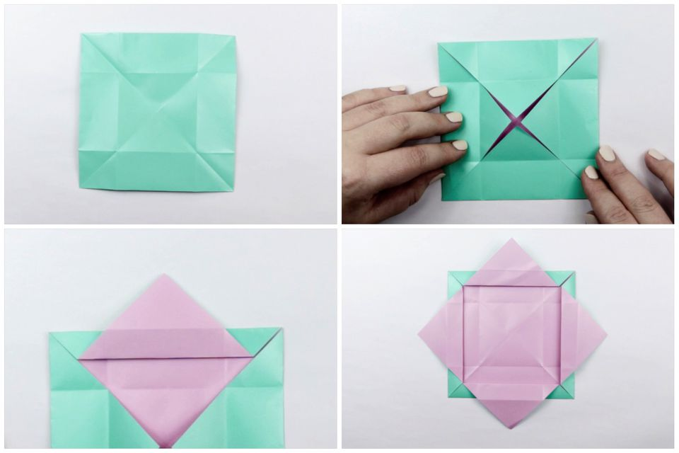 how to make a origami box step by step