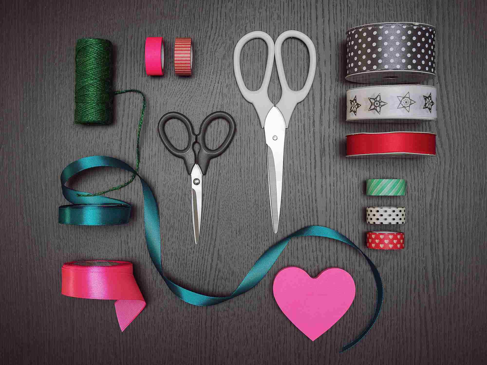 ribbon and scissors