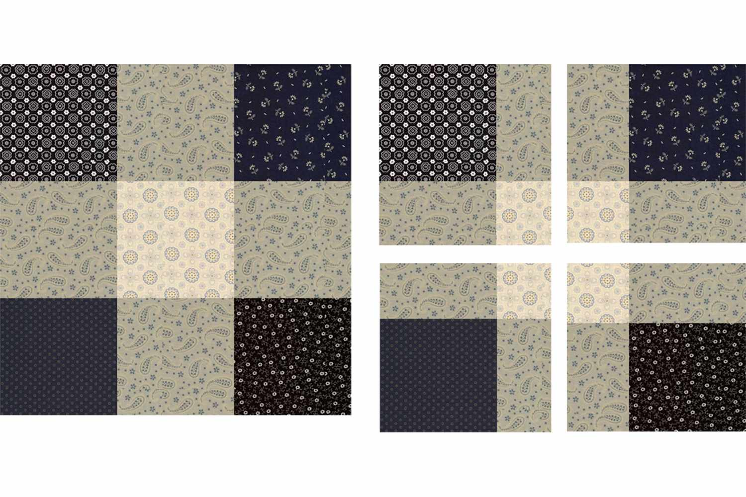 Disappearing Nine Patch Block in Neutral Colors