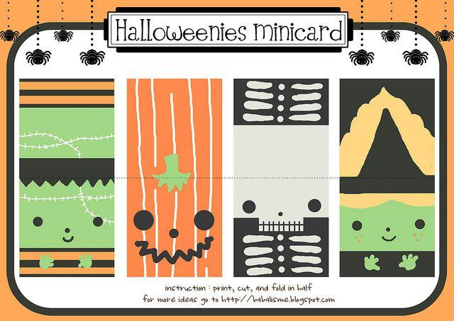 Four Halloween mini cards.