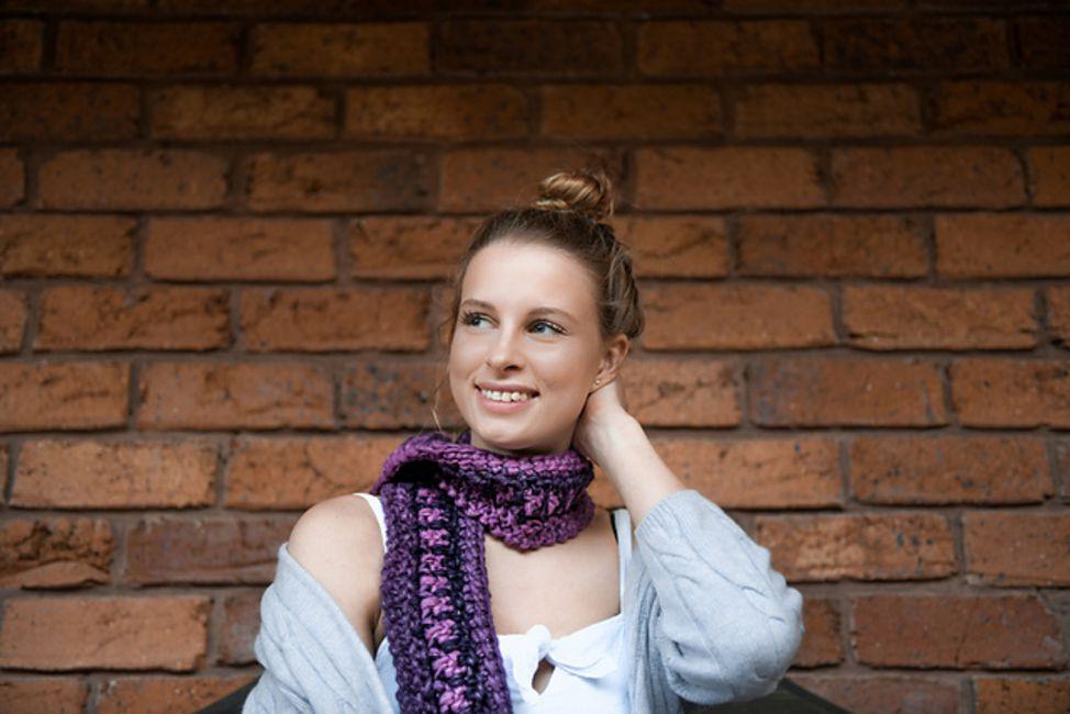 Funhouse Crochet Scarf Pattern