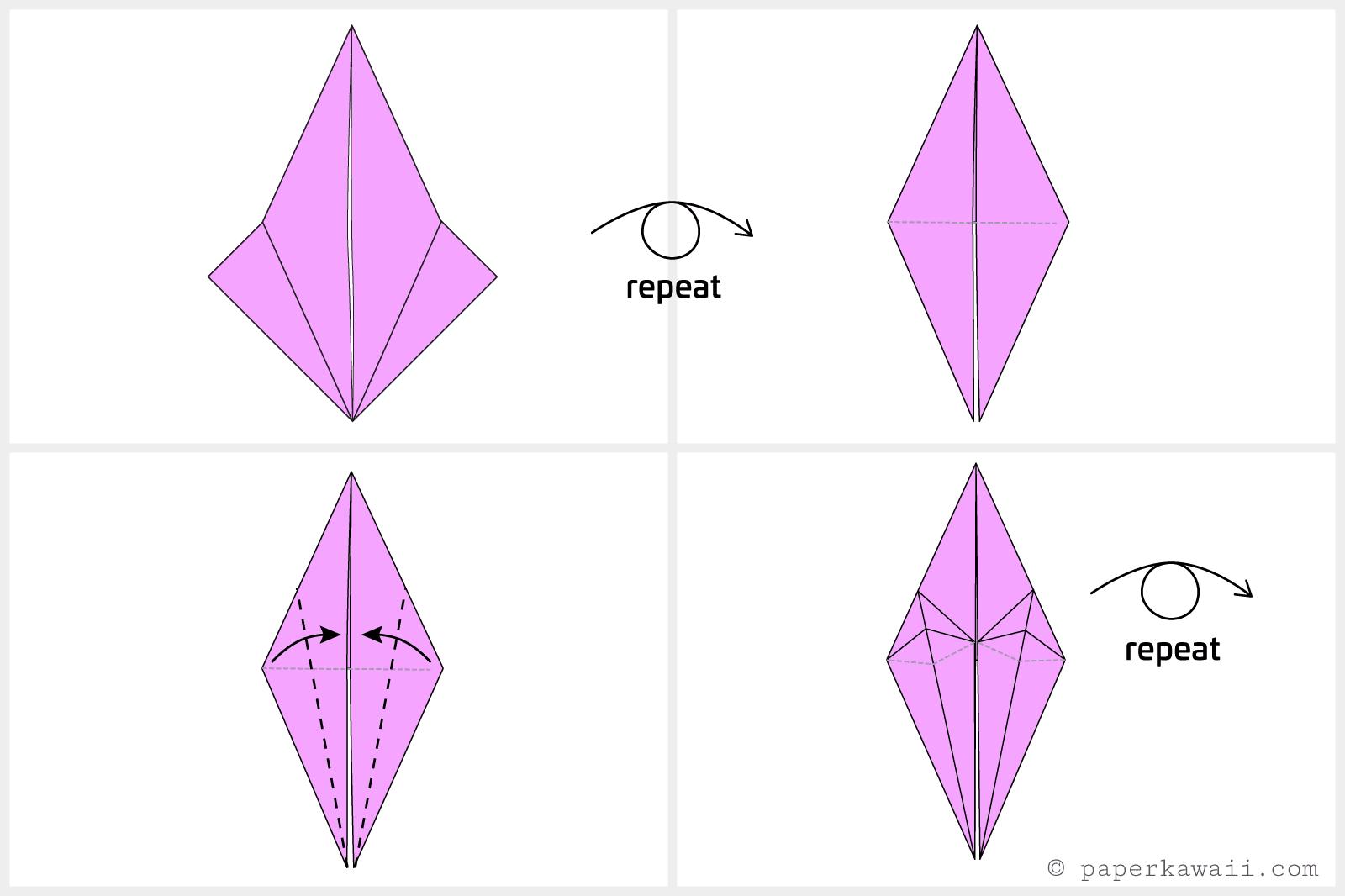 Easy Origami Crane Instructions Pics Photos Swan Diagrams