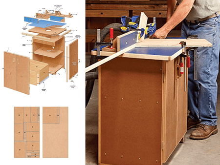 9 free diy router table plans you can use right now picture of a router table and some of its building plans keyboard keysfo Gallery