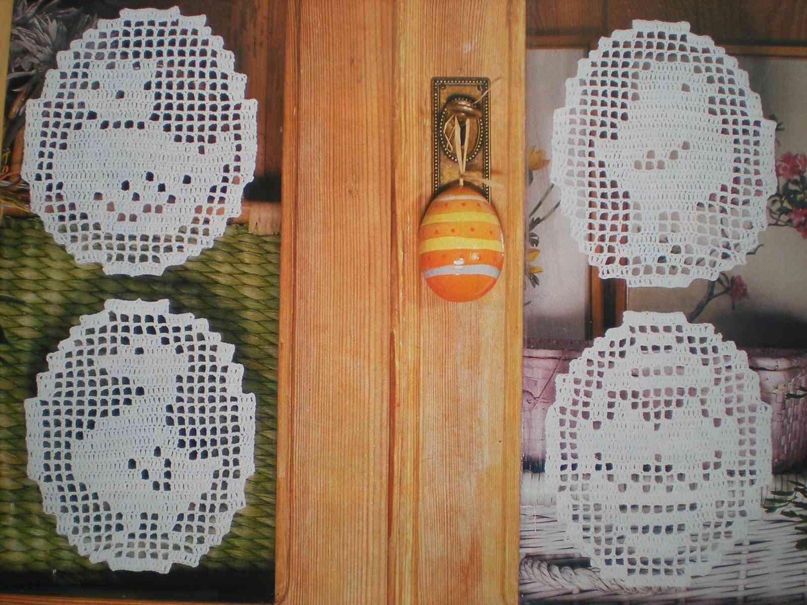 Filet Crochet Easter Decorations