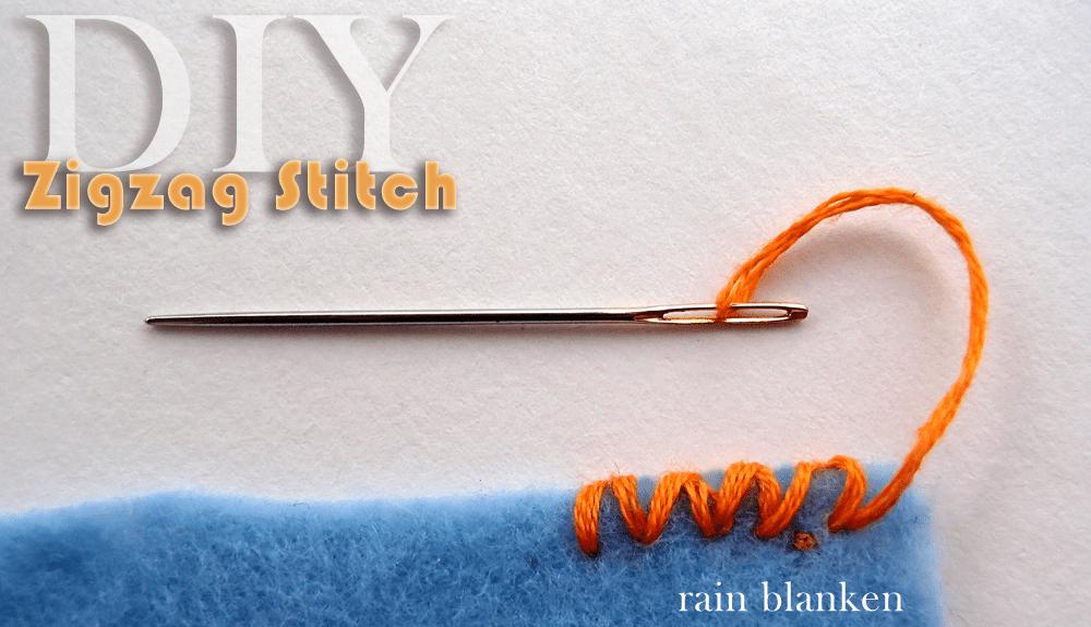 DIY Zigzag Stitch Photo Tutorial