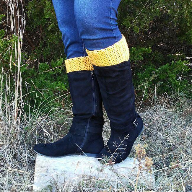 Easy Crochet Boot Cuffs Free Pattern