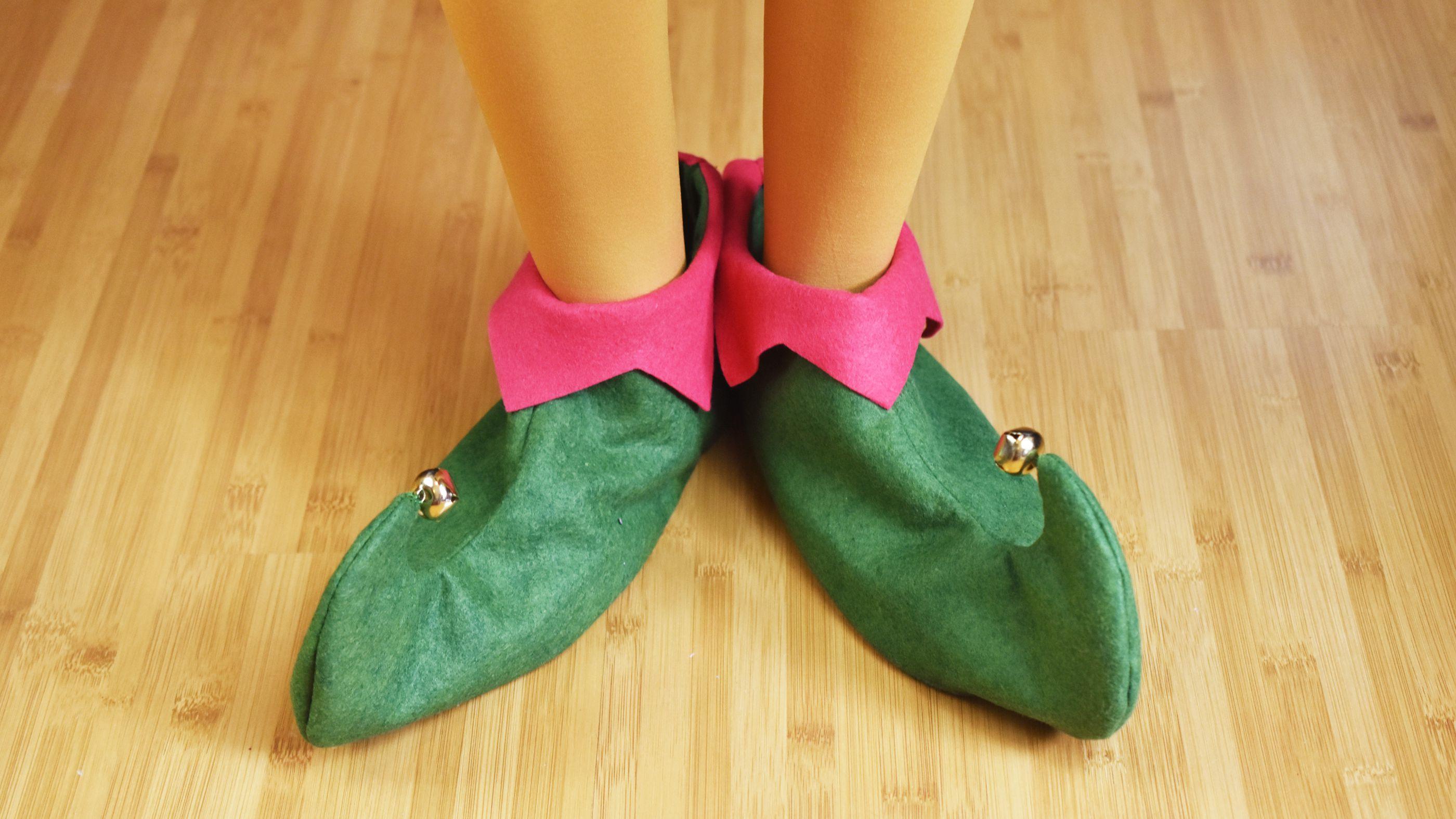 How To Make Felt Elf Shoes