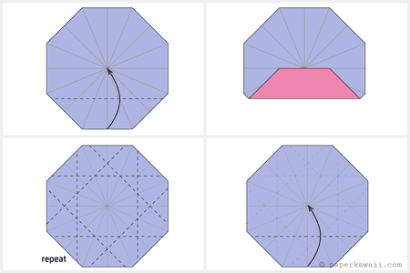 origami octagonal tato instructions