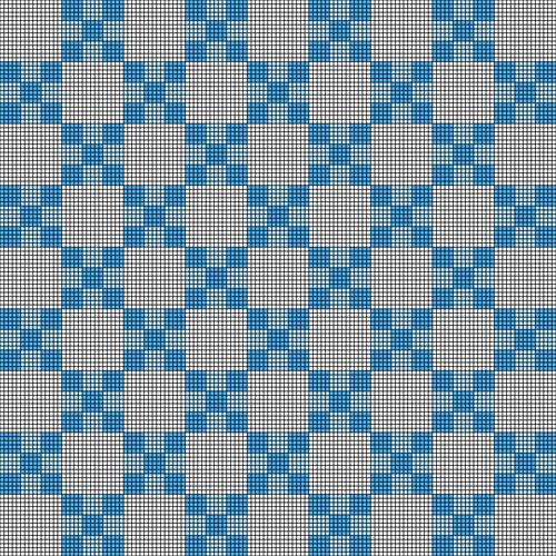 White and Blue Nested Checkerboard Baby Blanket