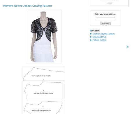 Free Shrug, Bolero and Short Women\'s Jacket Sewing Patterns
