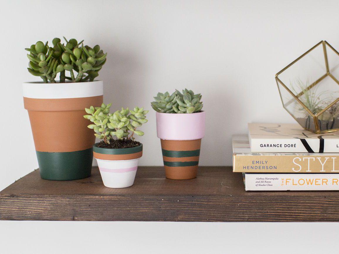 How To Paint A Terracotta Flower Pot