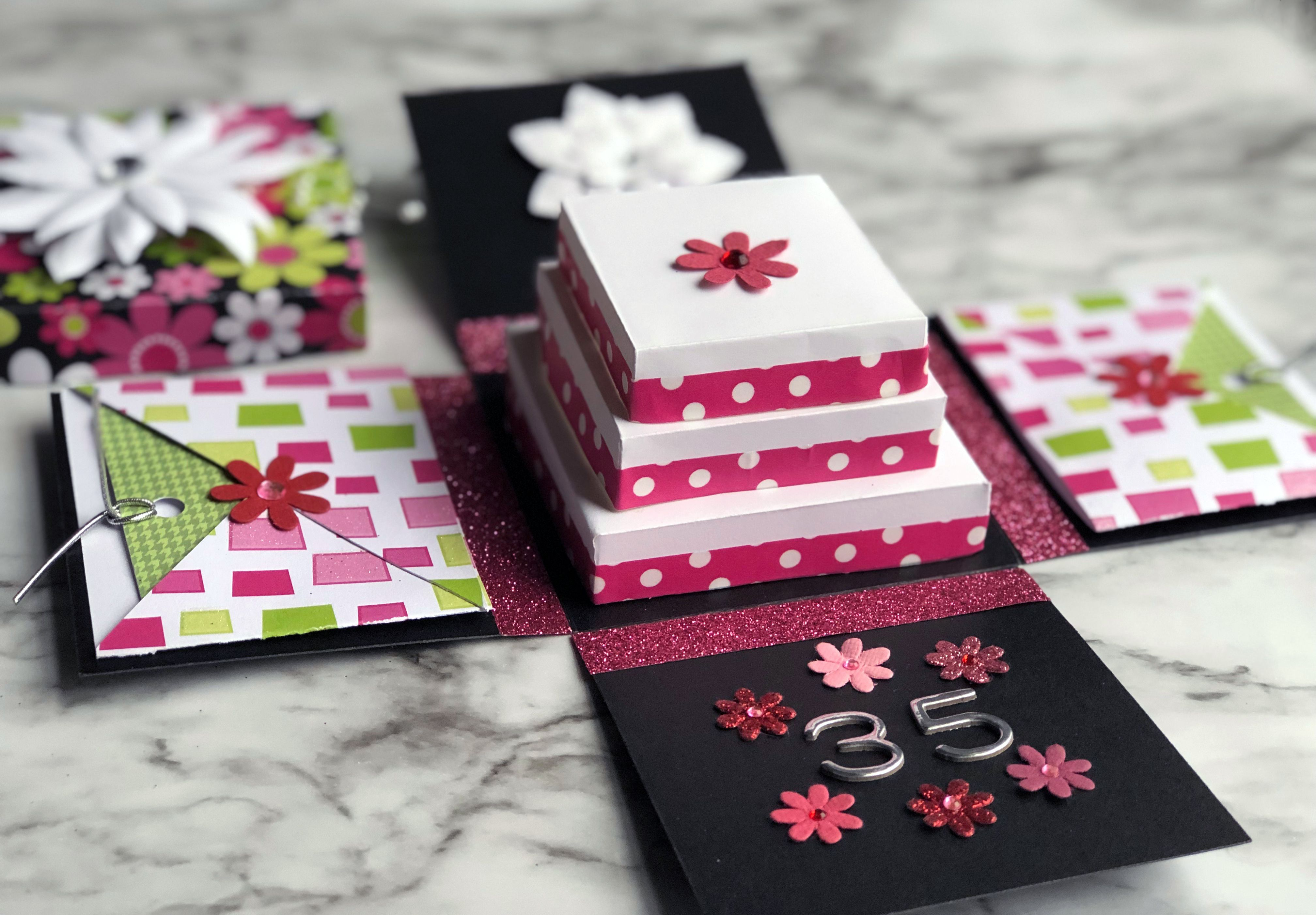 how to make an exploding box greeting card