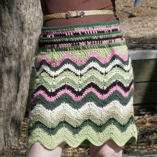 Crochet Women Skirt Free Patterns Instructions | 550x550