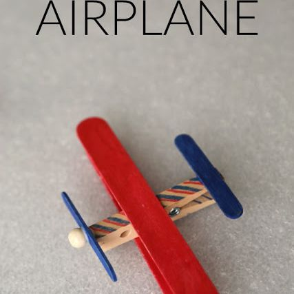craft airplane popsicle stick
