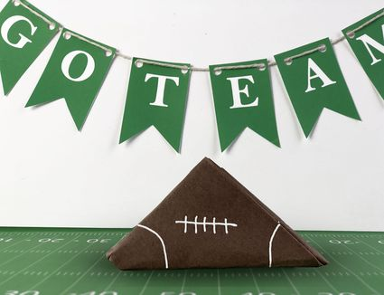 paper football with banner