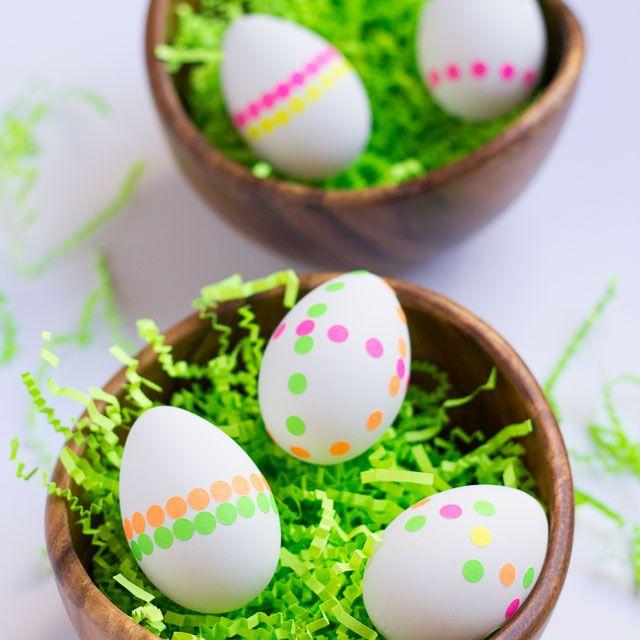 DIY Neon Dot Easter Eggs