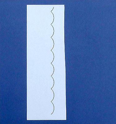 Diy Scalloped Edge Ruler Make Your Own Scallop Template For Sbooking