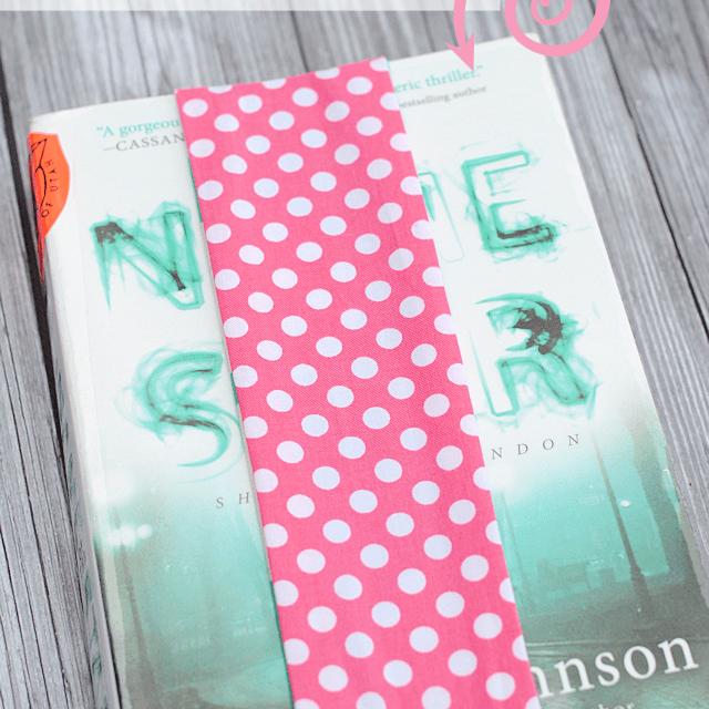 Fabric and Elastic Bookmark