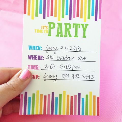 A Colorful Birthday Party Invite