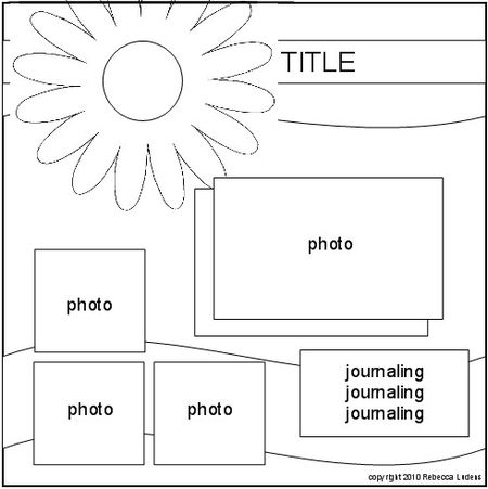 flower patterns and templates for scrapbooking